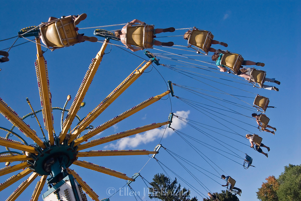 Chain Swing Ride at the Columbia County Fair in Chatham, New York, USA
