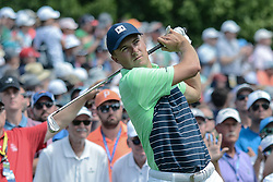 August 9, 2018 - Town And Country, Missouri, U.S - JORDAN SPIETH from Dallas Texas, USA during round one of the 100th PGA Championship on Thursday, August 8, 2018, held at Bellerive Country Club in Town and Country, MO (Photo credit Richard Ulreich / ZUMA Press) (Credit Image: © Richard Ulreich via ZUMA Wire)