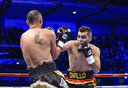 December 8, 2018 - Levallois Perret, France - Combat professionnel des poids super moyens Mickael Diallo ( FRA - short noir ) vs Genaro Quiroga  (Credit Image: © Panoramic via ZUMA Press)