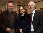 Repro FREE : Sean Cummings from KELTIE with his wife Vivienne and Gerry Coyne Connemara West<br />  at the launch of Connemara West's  ambitious International Residential Education Centre at a briefing in the Hotel Meyrick, Galway . The Centre, in the village of Tullycross, County Galway will consist of a state-of-art newly built education hub with a 50 seat auditorium; a wifi-enabled library; group study/breakout rooms; video conferencing facilities; meeting rooms; a conference room; community meeting rooms and a coffee dock. <br /> The accommodation part of the Centre will be made up of the renovated iconic 9 thatched cottages in Tullycross village, Connemara West's first project in 1973, and will hold up to 40 students and faculty.<br /> Photo:Andrew Downes, xposure