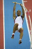 Photo: Rich Eaton.<br /> <br /> EAA European Athletics Indoor Championships, Birmingham 2007. 04/03/2007. Roman Sebrle of Czech Republic competes in the heptathlon pole vault on  his way to winning gold