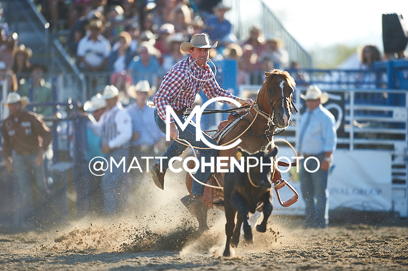 Tie-down roper Ryan Watkins of Bluff Dale, TX competes at the Rancho Mission Viejo Rodeo in San Juan Capistrano, CA.<br /> <br /> <br /> UNEDITED LOW-RES PREVIEW<br /> <br /> <br /> File shown may be an unedited low resolution version used as a proof only. All prints are 100% guaranteed for quality. Sizes 8x10+ come with a version for personal social media. I am currently not selling downloads for commercial/brand use.