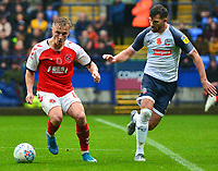 Fleetwood Town's Kyle Dempsey in action<br /> <br /> Photographer Richard Martin-Roberts/CameraSport<br /> <br /> The EFL Sky Bet League One - Bolton Wanderers v Fleetwood Town - Saturday 2nd November 2019 - University of Bolton Stadium - Bolton<br /> <br /> World Copyright © 2019 CameraSport. All rights reserved. 43 Linden Ave. Countesthorpe. Leicester. England. LE8 5PG - Tel: +44 (0) 116 277 4147 - admin@camerasport.com - www.camerasport.com