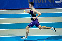 Samuel Chapple in action on the 800 meter during AA Drink Dutch Athletics Championship Indoor on 20 February 2021 in Apeldoorn.