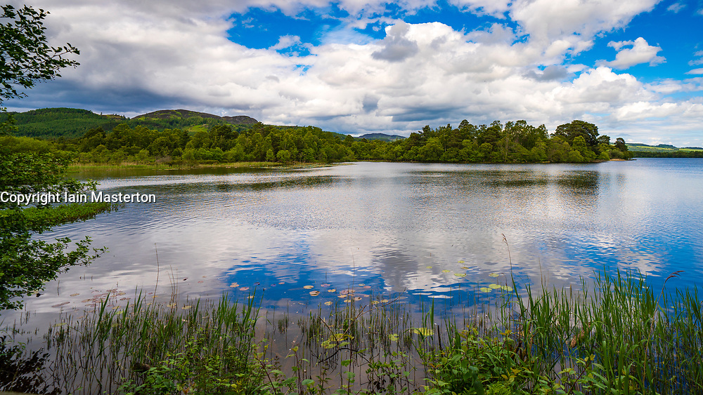 Scottish Wildlife Trust visitor centre at Loch of the Lowes, new Dunkeld in Perthshire, Scotland, UK