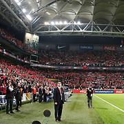 Turkey's supporters during their UEFA EURO 2012 Qualifying round Group A soccer match Turkey betwen Austria at Sukru Saracoglu stadium in Istanbul March 29, 2011. Photo by TURKPIX