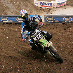 14 March 2009: James Povolny (323) during a qualifying heat of a Monster Energy AMA Supercross race at the Louisiana Superdome in New Orleans, Louisiana