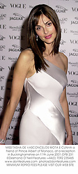 MISS TASHA DE VASCONCELOS MOTA E CUNHA a friend of Prince Albert of Monaco, at a reception in Buckinghamshire on 11th June 2001.OPB 231