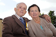 26-09-2012:  Bridie Casey pictured with her husband Tim Casey, who has retired after 60 years service as Parish Clerk at the Daniel O'Connell Memorial Church  in Cahersiveen, Co. Kerry.  Picture: Eamonn Keogh ( MacMonagle, Killarney)
