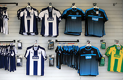 A view of West Bromwich Albion shirts on sale in the club shop at The Hawthorns