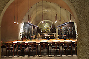 Wine tasting in the Rudd Estate wine cave, Oakville, Napa Valley, California.