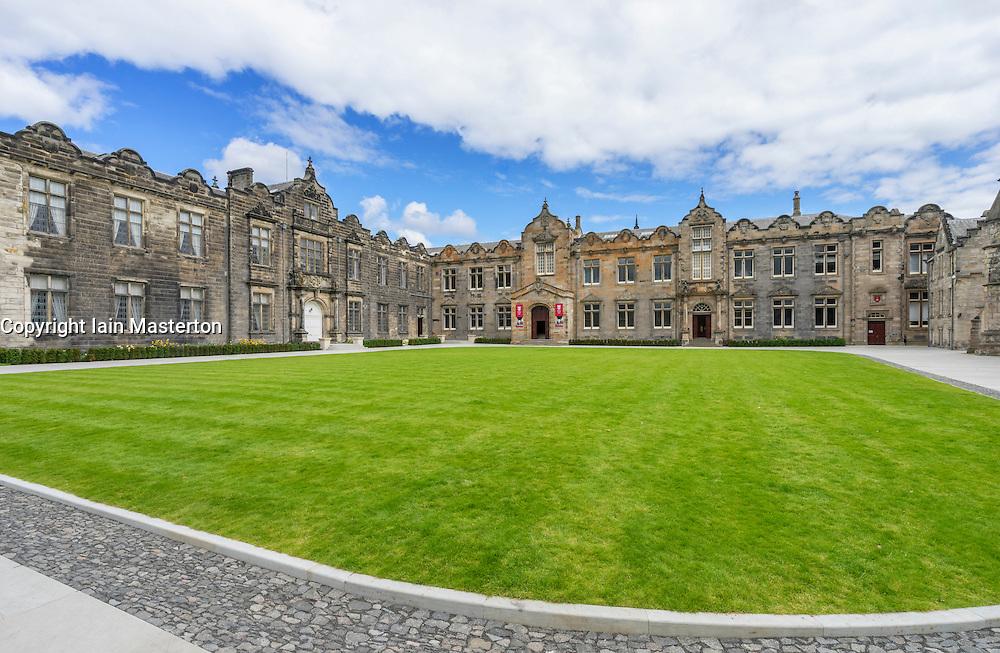 Quadrangle of St Salvator's College, University of St Andrews, St Andrews, Fife, Scotland