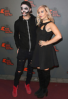 Tom Parker & Kelsey Hardwick, Kiss FM Haunted House Party 2016 - VIP Arrivals, The SSE Arena Wembley, London UK, 27 October 2016, Photo by Brett Cove