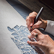 Handmade map cutting
