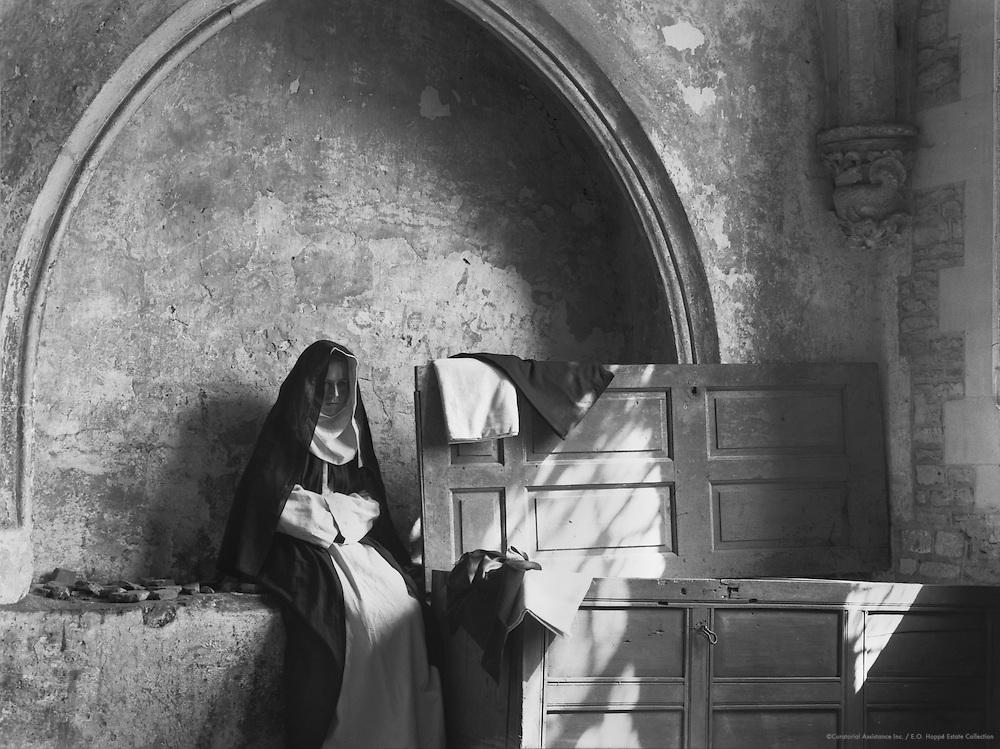 Nun, Lacock Abbey Pageant, Wiltshire, England, 1932