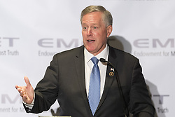 June 14, 2017 - Washington, DC, U.S - U.S. Congressman MARK MEADOWS speaking at the Endowment for Middle East Truth (EMET) Rays of Light in the Darkness Dinner in Washington, DC on June 14, 2017. (Credit Image: © Michael Brochstein via ZUMA Wire)