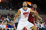 DALLAS, TX - NOVEMBER 25: Cannen Cunningham #15 of the SMU Mustangs boxes out against the Arkansas Razorbacks on November 25, 2014 at Moody Coliseum in Dallas, Texas.  (Photo by Cooper Neill/Getty Images) *** Local Caption *** Cannen Cunningham