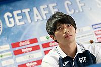 Getafe's new player Gaku Shibasaki during his official presentation.  July 21, 2017. (ALTERPHOTOS/Acero)