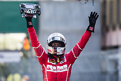 May 28, 2017 - Monte-Carlo, Monaco - 05 VETTEL Sebastian from Germany of Ferrari SF70-H team scuderia Ferrari celebrating his victory during the Monaco Grand Prix of the FIA Formula 1 championship, at Monaco on 28th of 2017. (Credit Image: © Xavier Bonilla/NurPhoto via ZUMA Press)
