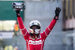May 28, 2017 - Monte-Carlo, Monaco - 05 VETTEL Sebastian from Germany of Ferrari SF70-H team scuderia Ferrari celebrating his victory during the Monaco Grand Prix of the FIA Formula 1 championship, at Monaco on 28th of 2017. (Credit Image: © Xavier Bonilla/NurPhoto via ZUMA Press)