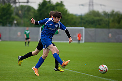 NEWPORT, WALES - Tuesday, May 27, 2014: North WPL Academy Boys' Morgan Owen during the Welsh Football Trust Cymru Cup 2014 at Dragon Park. (Pic by David Rawcliffe/Propaganda)