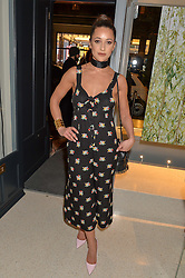 ROXIE NAFOUSI at the launch of the new J&M Davidson flagship shop at 104 Mount Street, London on 3rd February 2016.