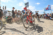 Bauke Mollema (NED - Trek - Segafredo) on the cobbles of sector 4 during the 105th Tour de France 2018, Stage 9, Arras Citadelle - Roubaix (156,5km) on July 15th, 2018 - Photo George Deswijzen / Proshots / ProSportsImages / DPPI