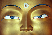 """A close-up of the eyes of the Golden Buddha at Thikse Gompa, in Ladakh, India, turns a specific subject into a universal representation of Buddhism. In this case, """"less is more."""""""
