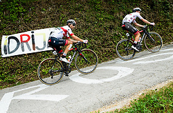 Diego Ulissi (ITA) of UAE Team Emirates and Tadej Pogacar (SLO) of UAE Team Emirates during 3rd Stage of 26th Tour of Slovenia 2019 cycling race between Zalec and Idrija (169,8 km), on June 21, 2019 in Slovenia. Photo by Vid Ponikvar / Sportida