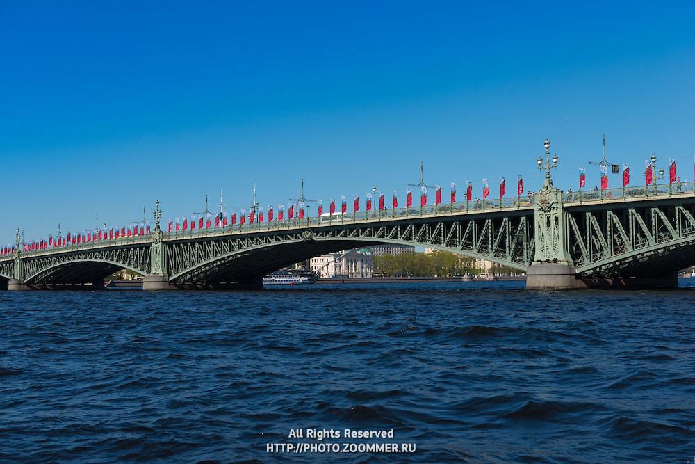 Palace Bridge Over Neva River, St Petersburg