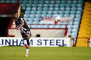 Grimsby Town Terry Taylor (26) plays a pass during the EFL Sky Bet League 2 match between Scunthorpe United and Grimsby Town FC at the Sands Venue Stadium, Scunthorpe, England on 23 January 2021.