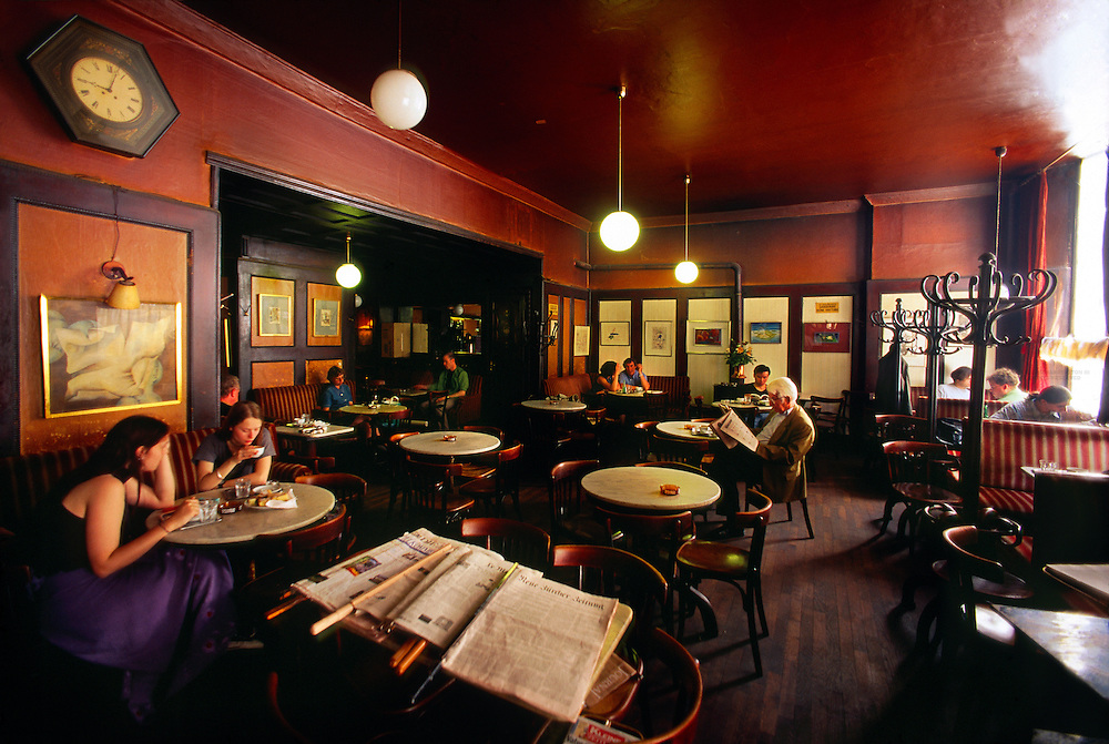 Cafe Hawelka (one of the most well known Viennese cafes), Vienna, Austria