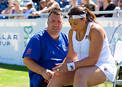 LIVERPOOL, ENGLAND - Sunday, June 24, 2018: Marcus Gerrard with Marion Bartolli (FRA) during day four of the Williams BMW Liverpool International Tennis Tournament 2018 at Aigburth Cricket Club. (Pic by Paul Greenwood/Propaganda)