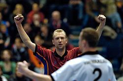 26-02-2005;VOLLEYBAL;FINAL 4 BEKER;DOC STAP ORION-VC OMNIWORLD;AMSTELVEEN<br /> <br /> Omniworld wint vrij moeizaam met 3-2 en plaatst zich voor de finale - <br /> <br /> ©2005-WWW.FOTOHOOGENDOORN.NL