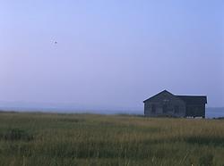 Lone boathouse at dusk in Southampton, NY