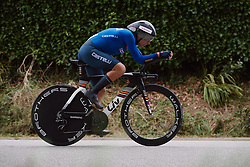 Vittoria Bussi (ITA) at the 2020 UEC Road European Championships - Elite Women ITT, a 25.6 km individual time trial in Plouay, France on August 24, 2020. Photo by Sean Robinson/velofocus.com
