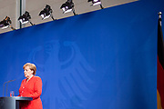 German Chancellor Angela Merkel attends a joint press conference with Italian Prime Minister Giuseppe Conte (not in picture) at the Chancellery in Berlin, Germany, June 18, 2018. The two leaders have met at the chancellery to discuss bilateral issues.