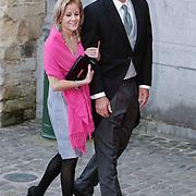 BEL/Brussel/20101120 - Huwelijk prinses Annemarie de Bourbon de Parme-Gualtherie van Weezel en bruidegom Carlos de Borbon de Parme, prins Nikolaas en partner Chrissy