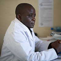 Apollos Katembo Mutongwa, 'Papa Apo', runs a clinic in the Butembo area in Congo, DRC. The clinic was part of a network of clinics supported by IMA to respond to and recover from Ebola.