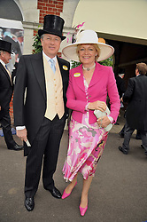 LORD & LADY BEAVERBROOK at the Royal Ascot racing festival 2009 held on 17th June 2009.