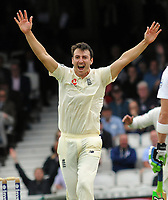 Cricket - 2017 South Africa Tour of England - Third Test, Day Two<br /> <br /> England debutant, Toby Roland - Jones appeals for another wicket at The Oval.<br /> <br /> COLORSPORT/ANDREW COWIE