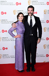 Aisling Bea and Rob Delaney in the press room at the Virgin TV British Academy Television Awards 2017 held at Festival Hall at Southbank Centre, London. PRESS ASSOCIATION Photo. Picture date: Sunday May 14, 2017. See PA story SHOWBIZ Bafta. Photo credit should read: Ian West/PA Wire