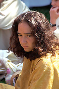 In the Heart of the Beast May Day Festival and Parade participant age 19.  Minneapolis Minnesota USA