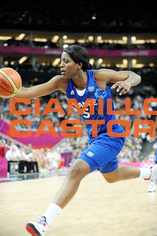 DESCRIZIONE : Basketball Jeux Olympiques Londres Demi finale<br /> GIOCATORE : Miyem Endene<br /> SQUADRA : France  FEMME<br /> EVENTO : Jeux Olympiques<br /> GARA : France Russie<br /> DATA : 09 08 2012<br /> CATEGORIA : Basketball Jeux Olympiques<br /> SPORT : Basketball<br /> AUTORE : JF Molliere <br /> Galleria : France JEUX OLYMPIQUES 2012 Action<br /> Fotonotizia : Jeux Olympiques Londres demi Finale Greenwich Northwest Arena<br /> Predefinita :