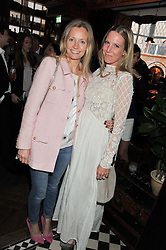 Left to right, MARTHA WARD and ALICE NAYLOR-LEYLAND at a party to celebrate the launch Mr Fogg's, 15 Bruton Lane, London W1 on 21st May 2013.