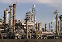 An oil refinery in the port of Yokkaichi.
