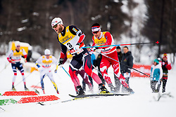 January 6, 2018 - Val Di Fiemme, ITALY - 180106 Martin Johnsrud Sundby of Norway and Alex Harvey of Canada compete in men's 15km mass start classic technique during Tour de Ski on January 6, 2018 in Val di Fiemme..Photo: Jon Olav Nesvold / BILDBYRN / kod JE / 160123 (Credit Image: © Jon Olav Nesvold/Bildbyran via ZUMA Wire)