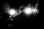 Vito Crimi, capogruppo del Movimento 5 Stelle al Senato, intervistato dai giornalisti in piazza Montecitorio dopo l'elezione del presidente della Repubblica. Roma, 20 aprile 2013. Christian Mantuano /  Oneshot