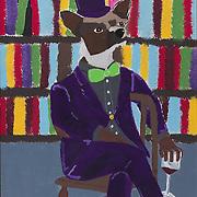"Title: Chauncey<br /> Artist: Jacob Lee<br /> Date: 2012<br /> Medium: Acrylic on canvas<br /> Dimensions: 22 x 28""<br /> Status: On Display<br /> Location: Cypress Creek Campus Bldg 1000"