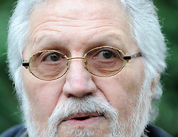 Former DJ Dave Lee Travis gives a statement outside his home, Nr Leighton Buzzard, UK, November 16, 2012. Photo i-Images.
